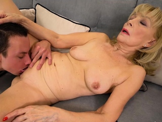 OldNannY Mature Lady Lonely Striptease
