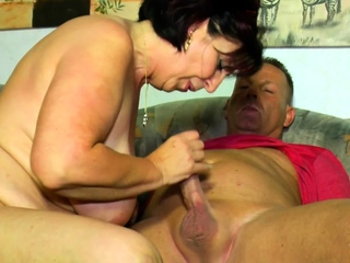 AmateurEuro - Obscene German granny Erna gets boned coupled with