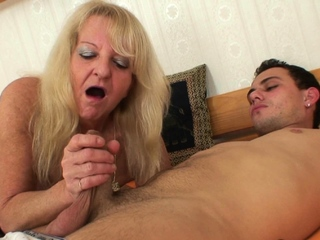 80 years old light-complexioned rides stranger young cock