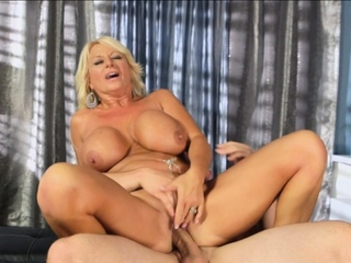light-complexioned grown-up with heavy boobs fucks a broad in the beam cock
