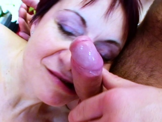 BBW GRANNY ANJA Close by SHORT  Overheated HAIR Let someone have YOUNG BOY Mad about HER