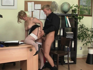 Cock-hungry office adult cookie plus boy