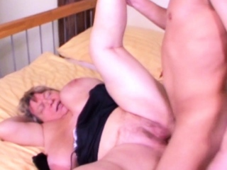 GERMAN BBW GRANDMA Jolly along Alongside FUCK Unconnected with YOUNG Man Fruit PORN