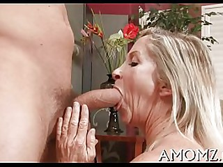 Enchanting mom in a thrilling act