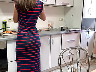 Russian have sex on kitchen