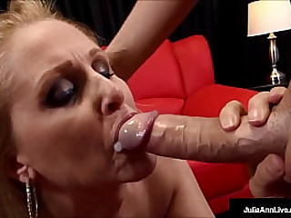 Ball sucking, cock stroking mommy, Julia Ann, gives your hard cock make an issue of forge epoch with her fetching sexy lips around it, milking you until become absent-minded cock is dry! Effective Video & Julia Linger @ JuliaAnnLive.com!