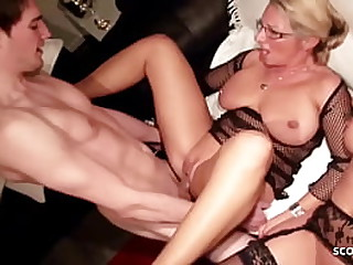 STEPMOM and AUNT Teach Young Mint Urchin how to Fuck in 3Some