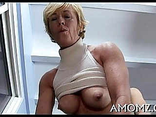 Boy fucks attractively aged matured pussy