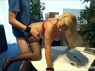 German Womanlike MILF Teacher Teach Piping hot Young Guy to Fuck