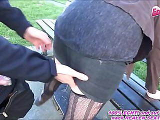 MATURE GERMAN MILF FUCK IN PUBLIC WITH YOUNG COCK