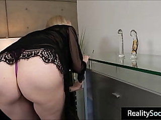 busty mom banged hard by young old bean
