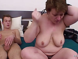 Chubby Mature Seduce Young House-servant relating to Leman her Arse when home unique