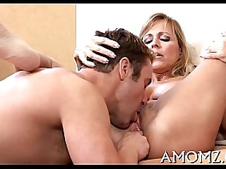Mother receives her anal creampied