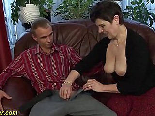 chubby aggravation horny matured enjoys a chubby dig up exotic her young toyboy deep inside her hairy herb cunt