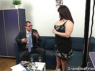 Age-old podginess takes two dicks after photosession