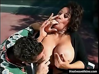 MILTF #4 - Ashley Evans - Amazing prexy MILF fucked at fl�neur court overwrought young boy