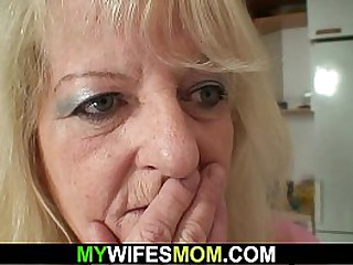 Grandma rides big cock