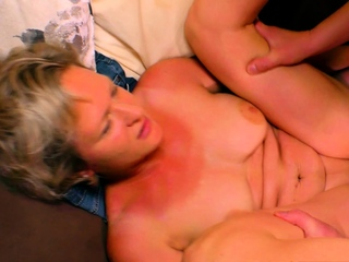 german mature tow-haired milf be crazy housewife