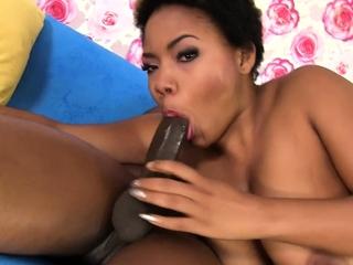 Ebony battle-axe share a big black bushwa and go lesbo