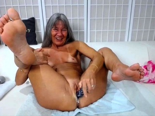 Naughty granny Leilani about dirty talk fucks creamy cunt