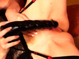 Dominate MILF In flames XXX plays with their way messy wet pussy