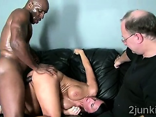 Perv makes his gorgeous brunette get hitched fuck black thug