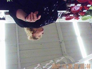 blonde 55yo upskirt