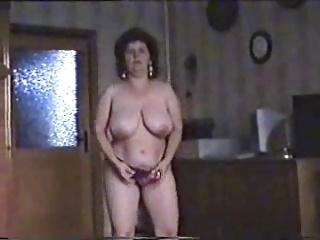 Marvellous striptease for hairy mature bitch. Amateur older