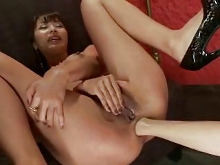Hot lesbian anal licking increased by fisting