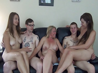 Three Guys increased by Three Girls Required by a Milf