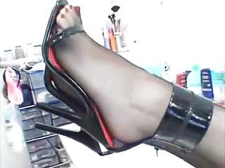 ..cole schwarze heels shoejob footjob