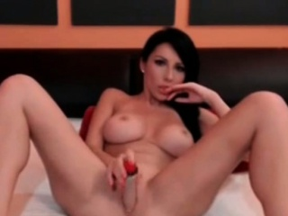 Gloominess hot milf fucks the brush shaved pussy